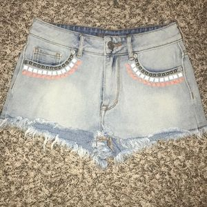 Kendall and Kylie high rise shorts